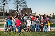 Ohio University Mathematics grad students pose for a group portrait near Morton Hall on November 15, 2016.