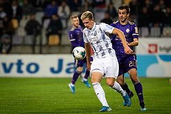 Luka Šušnjara of Mura and Mitja Viler of Maribor during football match between NK Maribor and NŠ Mura in 13th Round of Prva liga Telekom Slovenije 2019/20, on October 5, 2019 in Ljudski Vrt, Maribor, Slovenia. Photo by Blaž Weindorfer / Sportida