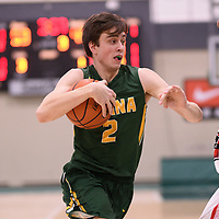 3rd year guard Samuel Hillis (2) of the Regina Cougars during the Men's Basketball home game on January 27 at Centre for Kinesiology, Health and Sport. Credit: Arthur Ward/Arthur Images