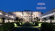 The Falaknuma Palace made entirely of Italian marble was built in Hyderabad in 1893.