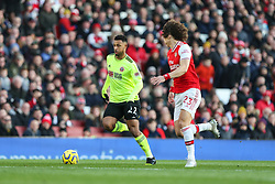 Lys Mousset of Sheffield United runs at David Luiz of Arsenal - Mandatory by-line: Arron Gent/JMP - 18/01/2020 - FOOTBALL - Emirates Stadium - London, England - Arsenal v Sheffield United - Premier League