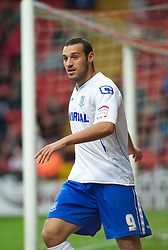 LONDON, ENGLAND - Saturday, October 8, 2011: Tranmere Rovers' Mustafa Tiryaki in action against Charlton Athletic during the Football League One match at The Valley. (Pic by Gareth Davies/Propaganda)