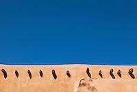 Adobe architecture, Santa Fe, New Mexico, USA.