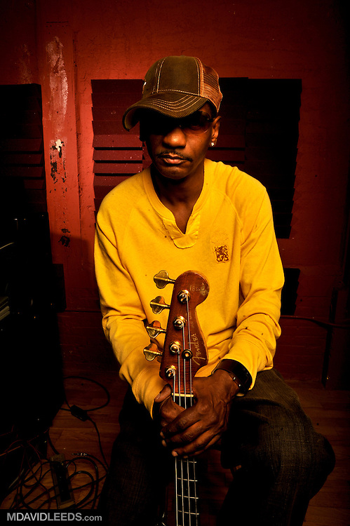 "April 13, 2008: A portrait of Victor Bailey taken during the ""Slippin' N' Trippin'"" sessions, with photographer M David Leeds, in Brooklyn, NY."