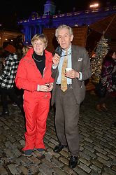 LORD & LADY STEVENSON at Skate at Somerset House in association with Fortnum & Mason held on 10th November 2014.