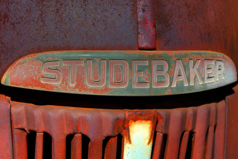 Rusted Vintage Studebaker Truck Emblem - Motor Transport Museum - Campo, CA