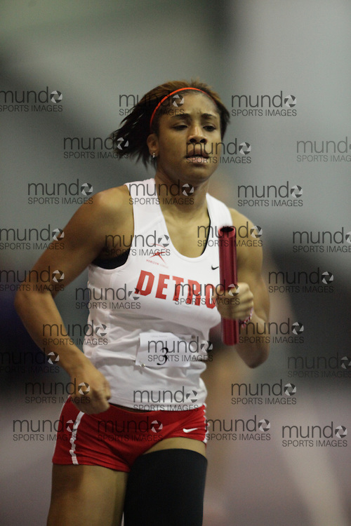 London, Ontario ---10-01-23---  Sequoyia Calhoun of the Detroit Titans competes at the 2010 Don Wright Team Challenge in London, Ontario, January 23, 2010..GEOFF ROBINS Mundo Sport Images