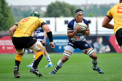 Marco Mama of Bristol Rugby in possession - Photo mandatory by-line: Patrick Khachfe/JMP - Mobile: 07966 386802 21/09/2014 - SPORT - RUGBY UNION - Bristol - Ashton Gate - Bristol Rugby v Cornish Pirates - GK IPA Championship.