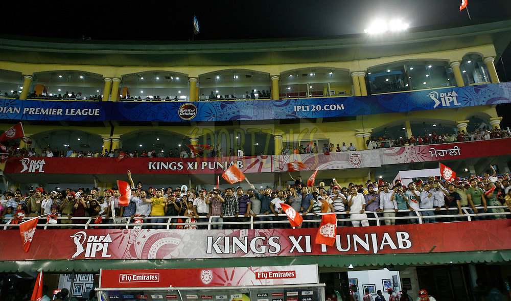A general view of the stadium after match 9 of the Indian Premier League ( IPL ) Season 4 between the Kings XI Punjab and the Chennai Super Kings held at the PCA stadium in Mohali, Chandigarh, India on the 13th April 2011..Photo by Money Sharma/BCCI/SPORTZPICS