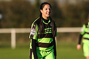 Forest Green Rovers Charlie Rowlands(12) during the South West Womens Premier League match between Forest Greeen Rovers Ladies and Marine Academy Plymouth LFC at Slimbridge FC, United Kingdom on 5 November 2017. Photo by Shane Healey.