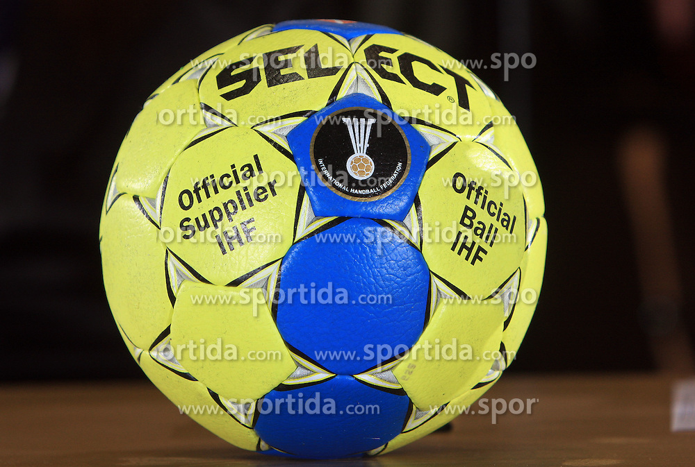 Official Ball at handball match of 5th Round of qualifications for EHF Euro 2010 in Austria between National team of Slovenia vs Bulgaria, on November 30, 2008 in Velenje, Slovenia. (Photo by Vid Ponikvar / Sportida)
