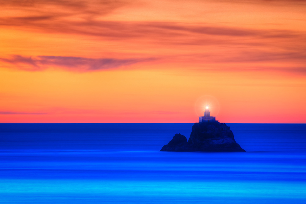 Tillamook Rock Lighthouse on Northern Oregon's Pacific Coastline.