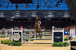 Brash Scott, (GBR), Hello M Lady<br /> The Longines FEI World Cup presented by H&M - London International Horse Show, Olympia - London 2016<br /> © Hippo Foto - Dirk Caremans<br /> 18-12-2016