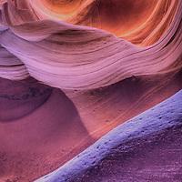 Inside Lower Antelope Canyon near Page Arizona