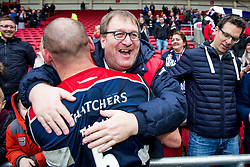 Dan Tuohy of Bristol Rugby celebrates with supporters after Bristol Rugby win 12-11 - Rogan Thomson/JMP - 26/02/2017 - RUGBY UNION - Ashton Gate Stadium - Bristol, England - Bristol Rugby v Bath - Aviva Premiership.