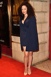 © Licensed to London News Pictures. 08/03/2016. NATALIE GUMEDE attends the Motown The Musical press night. Motown hits featured in the production include Dancing In The Street, I Heard It Through The Grapevine and My Girl. London, UK. Photo credit: Ray Tang/LNP