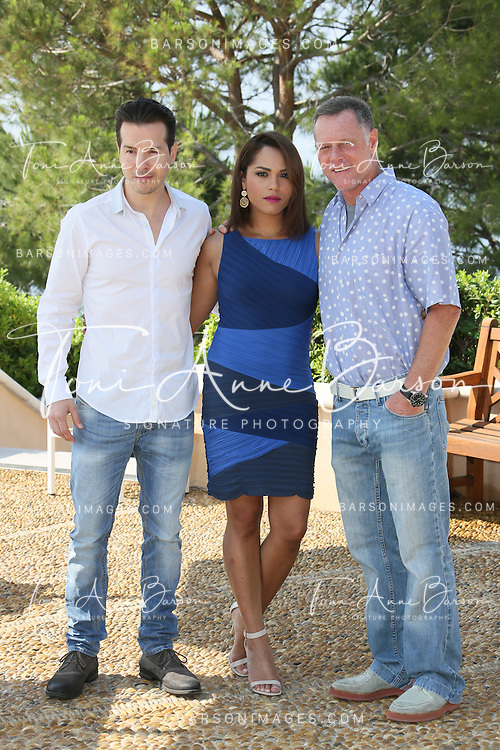 "MONTE-CARLO, MONACO - JUNE 10:  Jon Seda,  Monica Raymund and Jason Beghe attend ""Chicago PD"" and ""Chicago Fire"" Photocall at theMonte Carlo Bay Hotel on June 10, 2014 in Monte-Carlo, Monaco.  (Photo by Tony Barson/FilmMagic)"