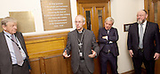 Kinderstransport plaque in Parliament, Westminster, London, Great Britain <br /> 27th January 2017 <br /> <br /> Chief Rabbi and Archbishop of Canterbury to mark Holocaust Memorial Day with Lord Dubs at rededication of Kindertransport plaque in Parliament<br />  <br /> 20 years ago the Committee of the Reunion of the Kindertransport donated a plaque to Parliament commemorating Britain&rsquo;s act of generosity to Jewish children in Nazi-occupied Europe. On Holocaust Memorial Day [27 January 2017], the plaque will be rededicated in the presence of newly arrived child refugees who were reunited with their families from Calais last year by Safe Passage, a project of Citizens UK. <br />  <br /> The ceremony will be particularly poignant as it will be attended by Lord Dubs, himself a Kindertransport survivor, who passed an amendment to the Immigration Act last year, with the Government's support, affording sanctuary in the UK to some of the most vulnerable lone child refugees in Europe.<br />  <br /> <br /> Lord Alf Dubs.<br /> Archbishop of Canterbury, Justin Welby,<br /> Speaker of the House of Commons, John Bercow, <br /> Chief Rabbi, Ephraim Mirvis, <br />  <br /> <br /> Rededication of Kinderstransport plaque in Parliament<br /> <br /> <br /> <br /> <br /> Photograph by Elliott Franks