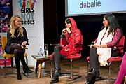 Sonita Alizadeh en prinses Mabel tijdens een discussiebijeenkomst na afloop van de vertoning van de documentaire Sonita. Het debat is onderdeel van het IDFA en gaat over het thema van de film Sonita, de uithuwelijking van kinderen. <br /> <br /> Sonita Alizadeh and Princess Mabel during a discussion session after the screening of the documentary Sonita. The debate is part of the IDFA and deals with the theme of the film Sonita, the arranged marriages of children.