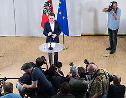 14.05.2017, Politische Akademie, Wien, AUT, ÖVP, Pressekonferenz nach Vorstandssitzung der Bundespartei anlässlich des Rücktritts von Parteichef und Vizekanzler Mitterlehner. im Bild künftiger Parteiobmann Sebastian Kurz // new party leader of the austrian peoples party Sebastian Kurz during press conference after board meeting of the austrian people' s party after resignation of Vice Chancellor and Partyleader Mitterlehner from all offices in Vienna, Austria on 2017/05/14. EXPA Pictures © 2017, PhotoCredit: EXPA/ Michael Gruber
