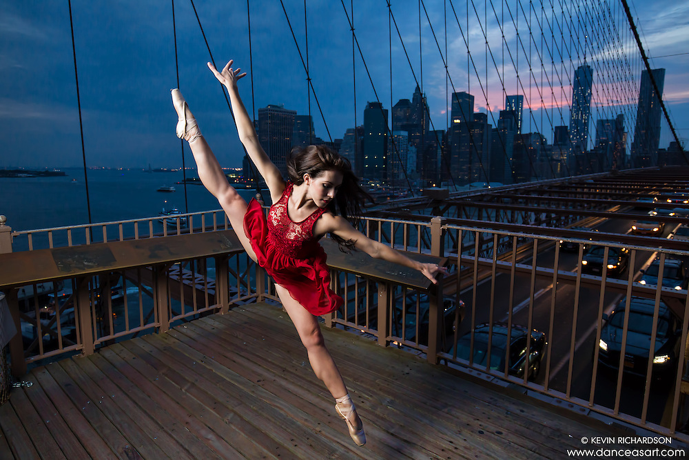Brooklyn Bridge Dance As Art the New York Photography Project featuring ballerina Lindsey Horrigan