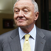 London,England,UK.4th April 2017. Ken Livingstone interview by press at the front of the Church House a Labour Party member after disciplinary hearing is alleged of Anti Semitism in Westminster,London,UK. by See Li