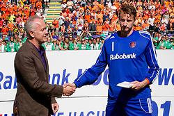 THE HAGUE - Rabobank Hockey World Cup 2014 - 15-06-2014 - MEN - FINAL AUSTRALIA - THE NETHERLANDS 6-1 -  Prijs voor de beste keeper ging naar Jaap Stockmann.<br /> Copyright: Willem Vernes
