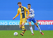 Fulham midfielder Ryan Tunnicliffe and Reading defender Michael Hector during the Sky Bet Championship match between Reading and Fulham at the Madejski Stadium, Reading, England on 5 March 2016. Photo by Adam Rivers.