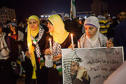 Night event in remembrance of the fifth anniversary of the death of Yasser Arafat.