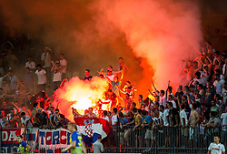 Torcida, fans of Hajduk during First Leg football match between FC Luka Koper and HNK Hajduk Split (CRO) in Second qualifying round of UEFA Europa League, on July 16, 2015 in Stadium Bonifika, Koper, Slovenia. Photo by Vid Ponikvar / Sportida