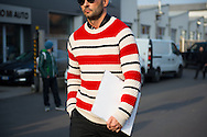Red and White Striped Sweater, Outside Gucci FW2017 2