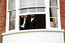 Left to right, GEORDIE GRIEG and EVGENY LEBEDEV at the Raisa Gorbachev Foundation fourth annual fundraising gala dinner held at Stud House, Hampton Court, Surrey on 6th June 2009.
