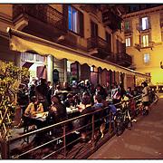 """nella fotografia il locale """"Biberon"""" in via Sant'Anselmo.Torino, il quartiere di San Salvario il """"cuore"""" movida serale.Turin, the district of San Salvario is the """"heart"""" Movida night"""