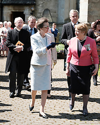 ** Exclusive **<br /> <br /> Princess Royal visits Kirk of Calder, Thursday 25th May 2017<br /> <br /> The Princess Royal visited Kirk of Calder in Mid Calder, Livingston today to accept a cheque on behalf of The Vine Trust.<br /> <br /> &pound;85,500 has been raised by members and organisations of the kirk to help fund an orphanage in Tanzania.<br /> <br /> There was an increased police presence due to the recent Manchester bombing.<br /> <br /> (c) Alex Todd   Edinburgh Elite media
