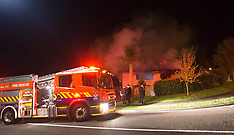 Tauranga-Early morning house fire, Welcome Bay