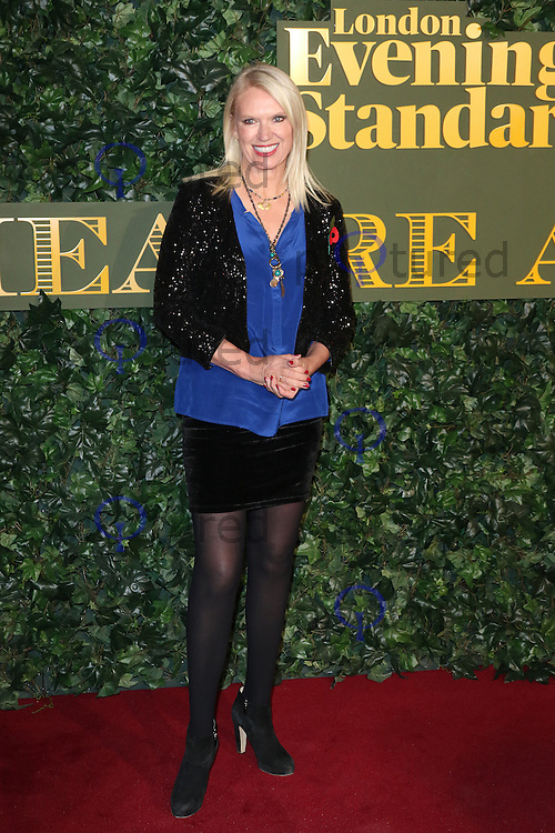 Anneka Rice, Evening Standard Theatre Awards, The Old Vic Theatre, London UK, 13 November 2016, Photo by Richard Goldschmidt