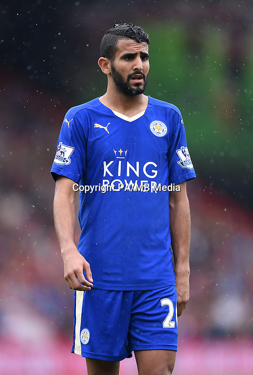 Leicester City's Riyad Mahrez during the Barclays Premier League match at the Vitality Stadium, Bournemouth.