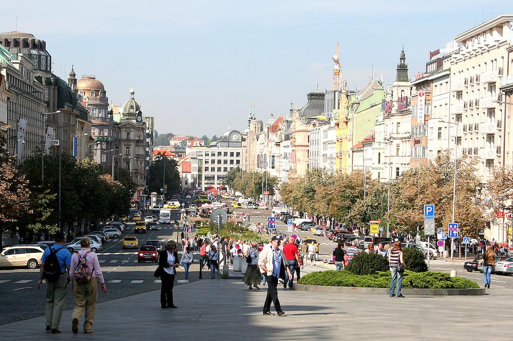 Wenceslas Square ( Václavské Náměstí), Prague, Czech Republic