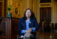 Washington: Senator-elect Tammy Duckworth poses at U.S Capitol, 15 Nov. 2016