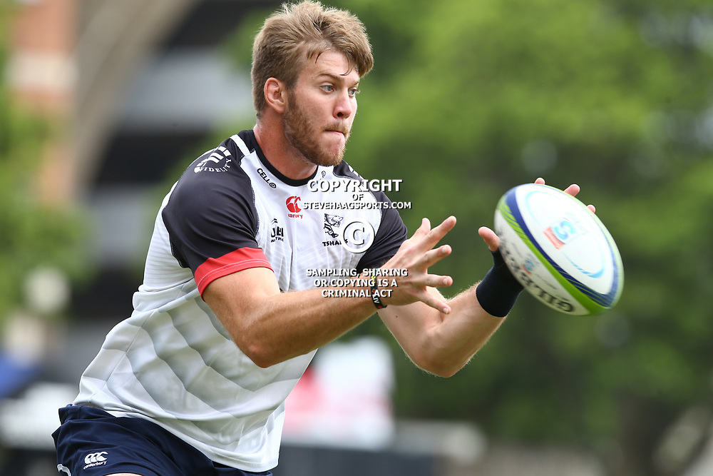 Stephan Lewies during The Cell C Sharks training session at Growthpoint Kings Park in Durban, South Africa. 13th March 2017(Photo by Steve Haag)<br /> <br /> images for social media must have consent from Steve Haag
