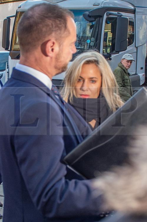 © Licensed to London News Pictures. 23/12/2019. London, UK. Caroline Flack arrives at Highbury Corner Magistrates' Court. Photo credit: Peter Manning/LNP