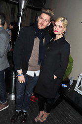 HENRY HOLLAND and PIXIE GELDOF at the InStyle Best of British Talent Event in association with Lancôme and Charles Worthington held at The Rooftop Restaurant, Shoreditch House, Ebor Street, E1 on 26th January 2012.