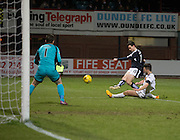 Dundee&rsquo;s Paul McGinn scores the opening goal - Dundee v Dumbarton, William Hill Scottish Cup Fifth Round at Dens Park<br /> <br />  - &copy; David Young - www.davidyoungphoto.co.uk - email: davidyoungphoto@gmail.com