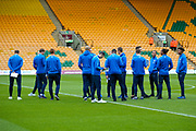 Brighton & Hove Albion players during the EFL Sky Bet Championship match between Norwich City and Brighton and Hove Albion at Carrow Road, Norwich, England on 21 April 2017. Photo by Simon Davies.