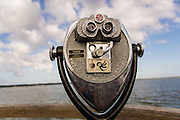 Binocular viewer at Harbor Town Sea Pines Plantation on Hilton Head Island, SC