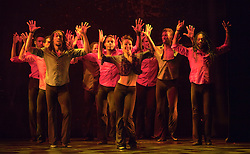 © Licensed to London News Pictures. 25/04/2012. London, England. UK Premiere of Ballet Revolución at the Peacock Theatre, London. Ballet Revolución is a fusion of ballet, contemporary dance and hip hop from a company of Cuban dancers and live musicians. Photo credit: Bettina Strenske/LNP