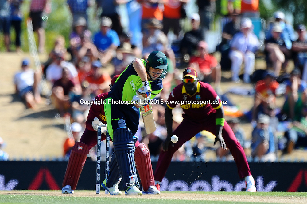 Ireland player Ed Joyce during the 2015 ICC Cricket World Cup match between West Indies and Ireland. Saxton Oval, Nelson, New Zealand. Monday 16 February 2015. Copyright Photo: Chris Symes / www.photosport.co.nz