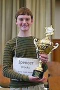 Spencer Brooks from Bexley Middle School wins the Regional Spelling Bee on March 10, 2012.
