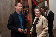 Matthew Slotover; Amanda Sharp, DINNER TO CELEBRATE THE ARTISTS OF FRIEZE PROJECTS AND THE EMDASH AWARD 2012 hosted by ANDREA DIBELIUS founder EMDASH FOUNDATION, AMANDA SHARP and MATTHEW SLOTOVER founders FRIEZE. THE FORMER CENTRAL ST MARTIN'S SCHOOL OF ART AND DESIGN, SOUTHAMPTON ROW, LONDON WC1. 11 October 2012