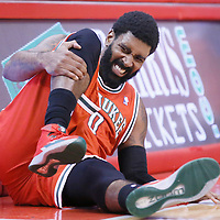 24 March 2014: Milwaukee Bucks guard O.J. Mayo (00) looks in pain during the Los Angeles Clippers 106-98 victory over the Milwaukee Bucks at the Staples Center, Los Angeles, California, USA.